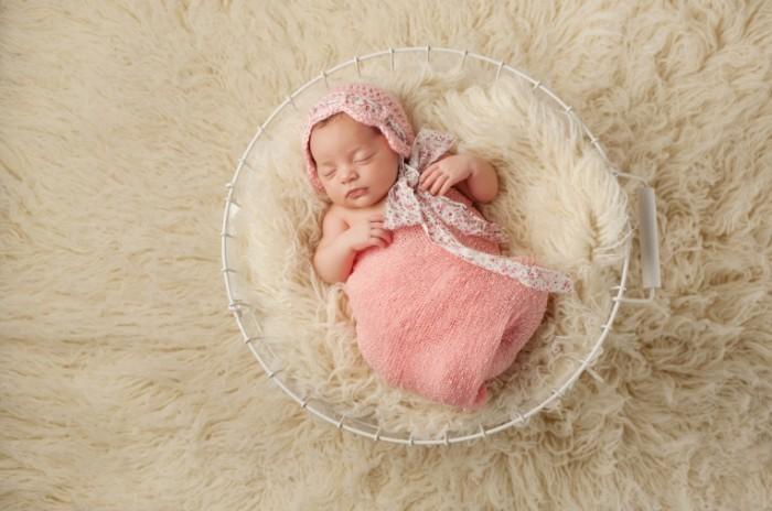 Фотосессия ньюборн для малышки