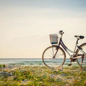 Велосипед на горе