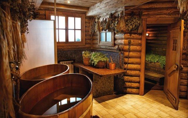 Бочки и веники в бане