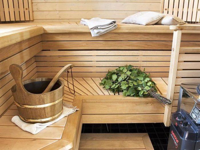 Банные принадлежности в бане