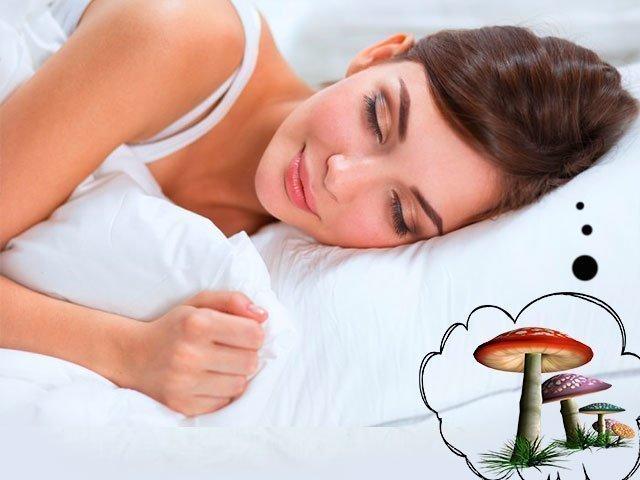 Женщине снятся грибы
