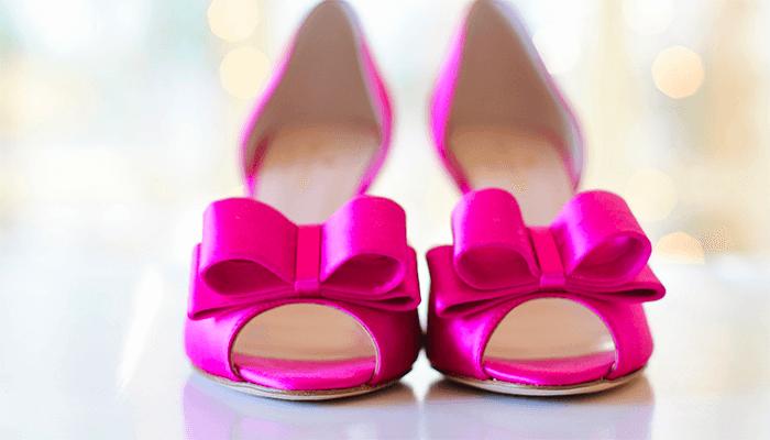 Розовые туфельки с бантиком