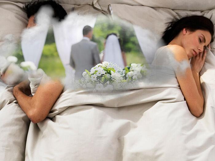 Женщина видит свадьбу во сне