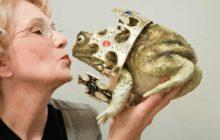 целовать лягушку