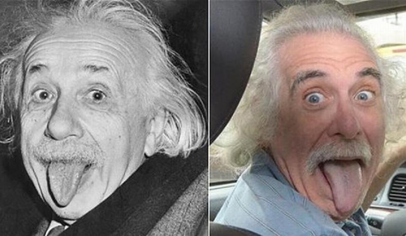Альбер Эйнштейн и его живая копия