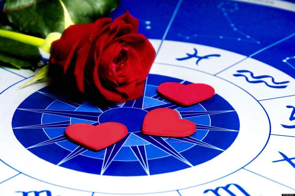 Роза и лепестки на зодиакальном круге