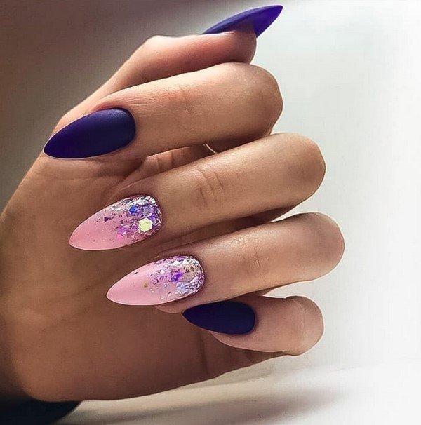 Комбинированный дизайн на ногтях