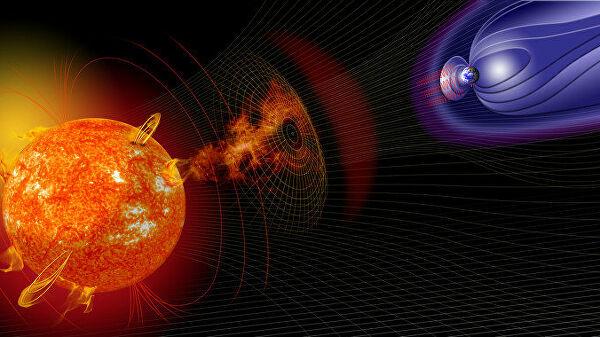 Воздействие солнечной активности на магнитное поле Земли