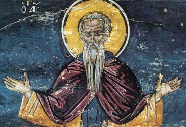 Православная икона с ликом святого старца