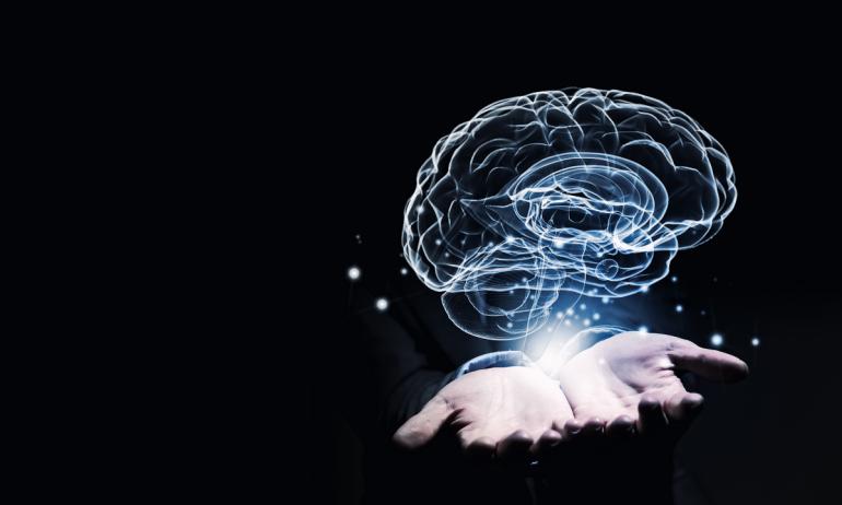 Виртуальный мозг над ладонями
